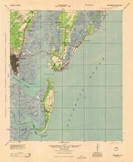 Brunswick, Georgia 1945 (1945) USGS Old Topo Map 15x15 Quad