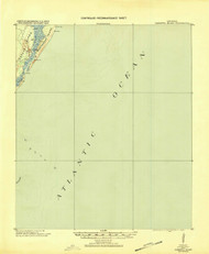 Cabretta Island, Georgia 1920 (1920) USGS Old Topo Map 15x15 Quad