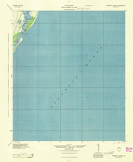 Cabretta Island, Georgia 1944 (1944) USGS Old Topo Map 15x15 Quad