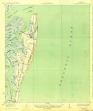 Cumberland Island, Georgia 1930 (1930) USGS Old Topo Map 15x15 Quad