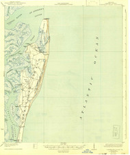 Cumberland Island, Georgia 1930 (1942) USGS Old Topo Map 15x15 Quad