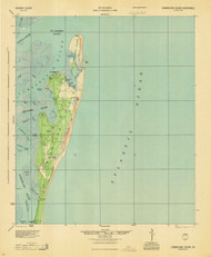 Cumberland Island, Georgia 1945 (1945) USGS Old Topo Map 15x15 Quad
