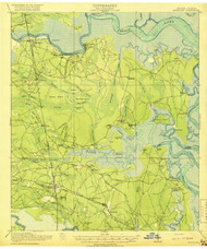 Kingsland, Georgia 1918 (1918) USGS Old Topo Map 15x15 Quad