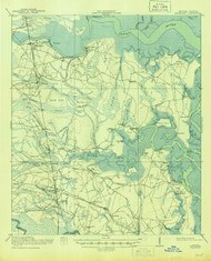 Kingsland, Georgia 1918 (1944) USGS Old Topo Map 15x15 Quad