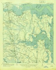 Kingsland, Georgia 1918 (1944) USGS Old Topo Map 15x15 Quad