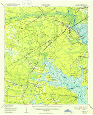 Limerick, Georgia 1950 (1950a) USGS Old Topo Map 15x15 Quad