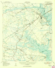 Limerick, Georgia 1950 (1950b) USGS Old Topo Map 15x15 Quad