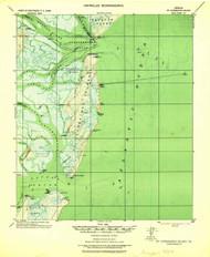 St Catherine Island, Georgia 1928 (1928) USGS Old Topo Map 15x15 Quad