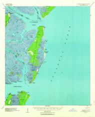 St Catherine Island, Georgia 1943 (1963) USGS Old Topo Map 15x15 Quad