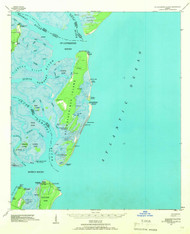St Catherine Island, Georgia 1943 (1966) USGS Old Topo Map 15x15 Quad