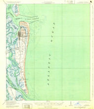 Fernandina, Florida 1919 (1932) USGS Old Topo Map 15x15 Quad
