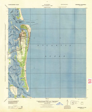 Fernandina, Florida 1944 (1944) USGS Old Topo Map 15x15 Quad