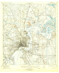 Jacksonville, Florida 1918 (1931) USGS Old Topo Map 15x15 Quad