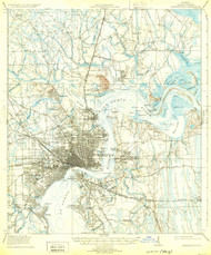 Jacksonville, Florida 1918 (1932) USGS Old Topo Map 15x15 Quad