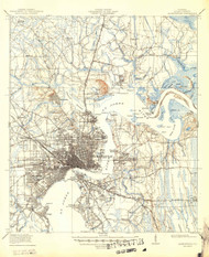 Jacksonville, Florida 1918 (1949) USGS Old Topo Map 15x15 Quad