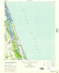 Matanzas, Florida 1943 (1957) USGS Old Topo Map 15x15 Quad