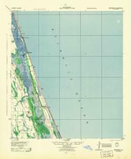Matanzas, Florida 1944 (1944) USGS Old Topo Map 15x15 Quad