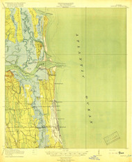 Mayport, Florida 1918 (1918) USGS Old Topo Map 15x15 Quad