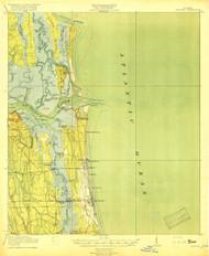 Mayport, Florida 1918 (1918) USGS Old Topo Map 15x15 Quad