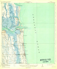 Mayport, Florida 1918 (1932) USGS Old Topo Map 15x15 Quad