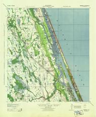 Ormond, Florida 1944 (1944) USGS Old Topo Map 15x15 Quad