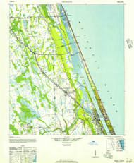 Ormond, Florida 1944 (1957) USGS Old Topo Map 15x15 Quad