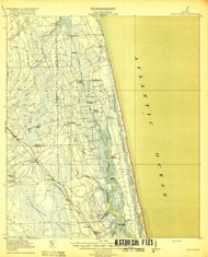 Palm Valley, Florida 1918 (1918a) USGS Old Topo Map 15x15 Quad