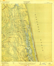 Palm Valley, Florida 1918 (1918b) USGS Old Topo Map 15x15 Quad