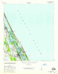 Port Orange, Florida 1943 (1959) USGS Old Topo Map 15x15 Quad