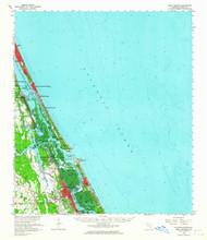 Port Orange, Florida 1956 (1964) USGS Old Topo Map 15x15 Quad
