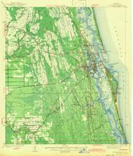 St Augustine, Florida 1943 (1943b) USGS Old Topo Map 15x15 Quad