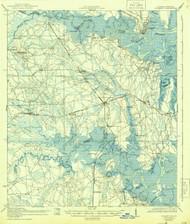 St Marys, Florida 1919 (1944) USGS Old Topo Map 15x15 Quad