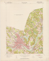 Haverhill, MA 1952-1953 Original USGS Old Topo Map 7x7 Quad 31680 - MA-2