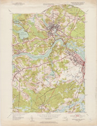 Newburyport (West), MA 1952-1953 Original USGS Old Topo Map 7x7 Quad 31680 - MA-3