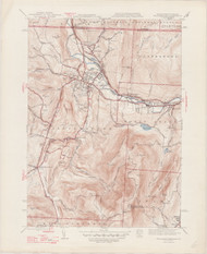 Williamstown, MA 1944-1947 Original USGS Old Topo Map 7x7 Quad 31680 - MA-6