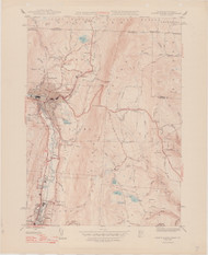North Adams, MA 1944-1948 Original USGS Old Topo Map 7x7 Quad 31680 - MA-7