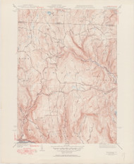 Heath, MA 1945-1951 Original USGS Old Topo Map 7x7 Quad 31680 - MA-9