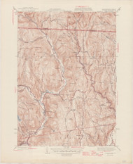 Colrain, MA 1945-1946 Original USGS Old Topo Map 7x7 Quad 31680 - MA-10