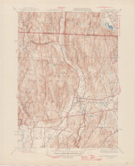 Bernardston, MA 1945-1948 Original USGS Old Topo Map 7x7 Quad 31680 - MA-11
