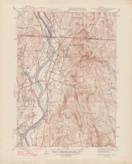 Northfield, MA 1945-1946 Original USGS Old Topo Map 7x7 Quad 31680 - MA-12