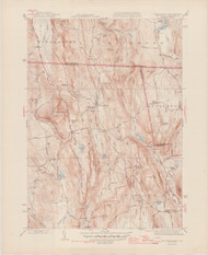 Mount Grace, MA 1945-1946 Original USGS Old Topo Map 7x7 Quad 31680 - MA-13