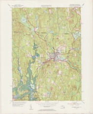 Winchendon, MA 1954-1955 Original USGS Old Topo Map 7x7 Quad 31680 - MA-15