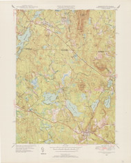 Ashburnham, MA 1950-1952 Original USGS Old Topo Map 7x7 Quad 31680 - MA-16