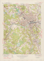 Lawrence, MA 1944-1947 Original USGS Old Topo Map 7x7 Quad 31680 - MA-22