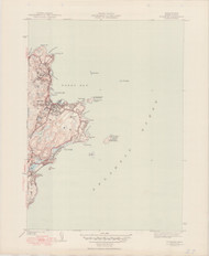 Rockport, MA 1945-1950 Original USGS Old Topo Map 7x7 Quad 31680 - MA-27