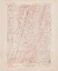 Hancock (copy B), MA 1944-1948 Original USGS Old Topo Map 7x7 Quad 31680 - MA-28B