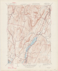 Cheshire, MA 1944-1947 Original USGS Old Topo Map 7x7 Quad 31680 - MA-29