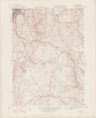 Windsor, MA 1944-1947 Original USGS Old Topo Map 7x7 Quad 31680 - MA-30