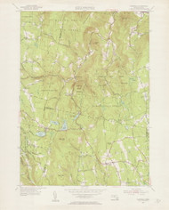 Plainfield (copy A), MA 1955-1956 Original USGS Old Topo Map 7x7 Quad 31680 - MA-31A