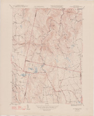 Plainfield (copy B), MA 1944-1948 Original USGS Old Topo Map 7x7 Quad 31680 - MA-31B